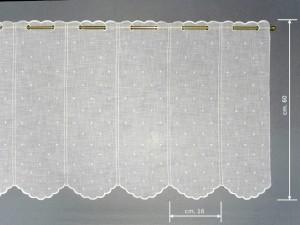 Tendina a vetro tirolese bianca h 60 cesano boscone - Tagliare vetro finestra ...