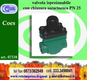 Valvola ispezionabile con chiusura saracinesca pn25 vasto - Valvola chiusura acqua bagno ...