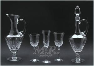 Servizio bicchieri cristallo bohemia diamante 38 pz opera for Bohemia bicchieri