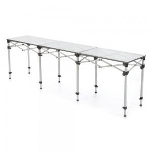 Tavolo in alluminio banchetti fiere stand picnic for Arredo stand area