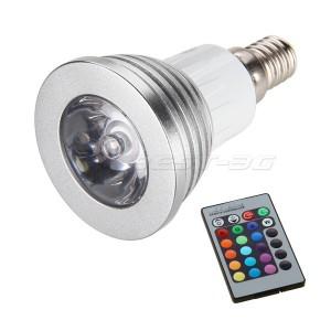 lampadina led multicolore : Lampadina faretto led rgb multicolore 5w 220V E14 ? E27 telecomando ...