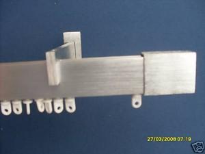 Bastone per tenda rettangolare finitura alluminio satinato - Supporti per bastoni tende ...