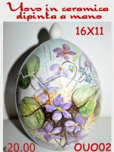 Uova Di Ceramica Dipinte A Mano.Uovo In Ceramica Dipinta A Mano