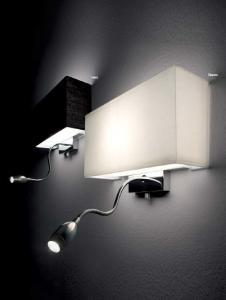 lampada da parete ideal lux hotel ap2 4 colori pesaro. Black Bedroom Furniture Sets. Home Design Ideas