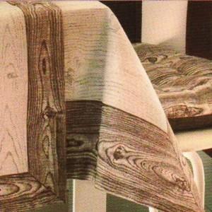 Copritavolo marrone 140x180 linea legno emily cesano - Copritavolo moderno ...