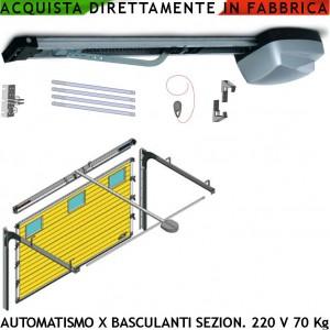 Basculante kit automatismo da soffitto elettrico 70 kg - Serranda elettrica casa ...