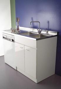 sottolavello 45 x 60 per lavatrice lavastoviglie inox