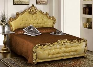 Letto oro foglio barocco : (Villaricca)