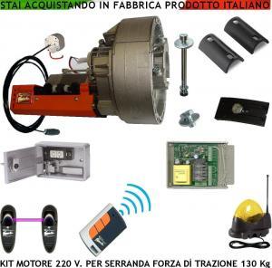 Kit automatismo serranda elettrica 220 v 130 kg 12 mt motore lampeggiatore fotocellule - Serranda elettrica casa ...