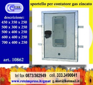 Sportello per contatore gas zincato art 108644535 vasto for Armadio contatore gas