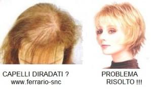 Acconciatura capelli diradati