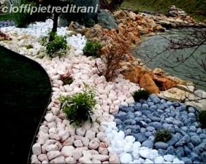Mobili lavelli negozzi di ciotoli colorati per il giardino for Sassi finti per giardini
