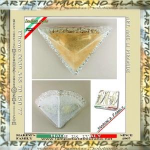 Plafoniera e applique in vetro piastra con graniglia art for Graniglia di vetro