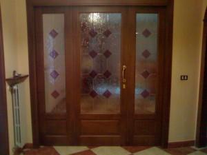 Porta d 39 ingresso o divisoria a tre battenti nusco - Nusco porte milano ...
