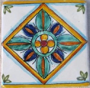 Mattonelle decorate a mano cm10x10 campi bisenzio - Mattonelle in ceramica decorate ...