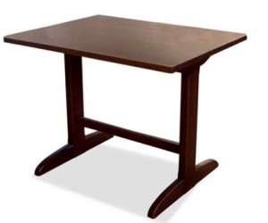 Tavoli Alti In Legno : Tavolo in legno in arte povera con piano sp mathi