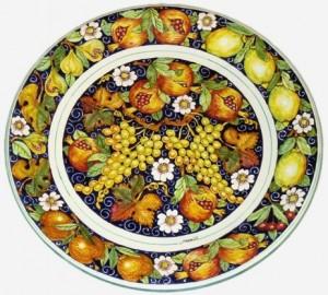 Piatti in ceramica decorati a mano campi bisenzio - Piatti di frutta decorati ...