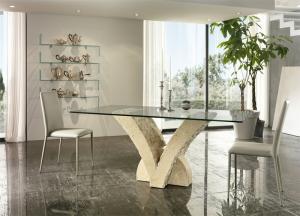 Tavolo bianco mactan 200x100 stones papillon fs022mb for Poltrone relax pesaro