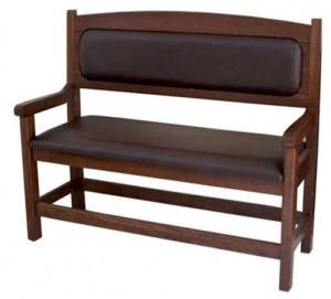 Panca mod confort in legno massello con braccioli in faggio imbottita ...