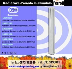 Radiatore d 39 arredo ferroli in alluminio estruso vasto for Radiatori alluminio ferroli