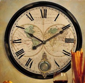 Orologio da parete con pendolo messina for Orologi da parete vintage
