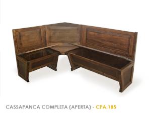 Giro panca aperta in legno massello in faggio mathi - Panca da interno ...