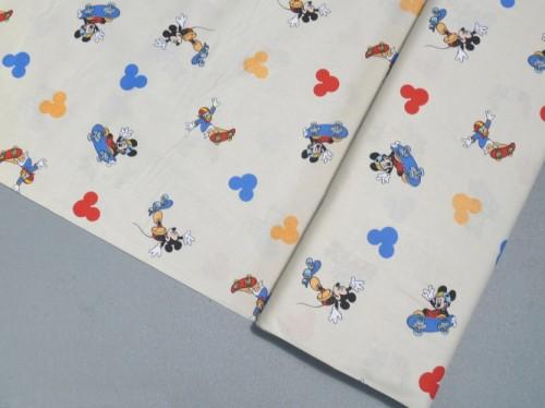 Tessuto cotone stampato avorio topolino e paperino disney for Tende topolino