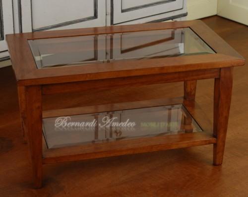 Tavolino da salotto doppio ripiano : (Rosà)