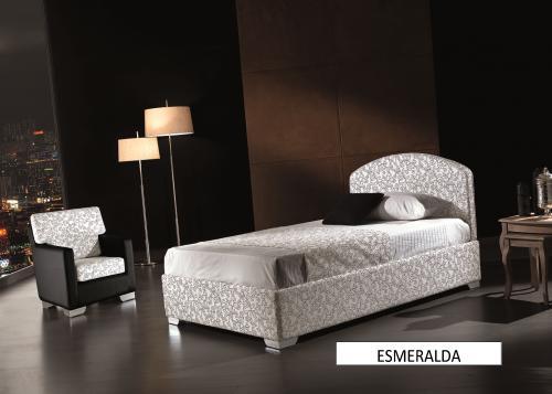 Letto esmeralda matrimoniale in tessuto cat.b : (Pesaro)