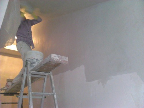 Parete Scala Interna : Gesso pareti scala interna ferno