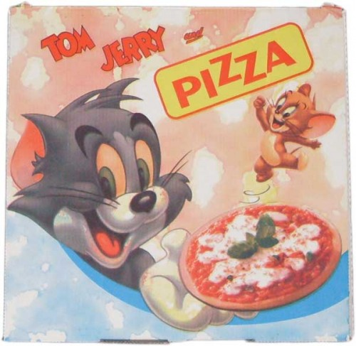 Scatole per pizza tipo cartoons gorgonzola