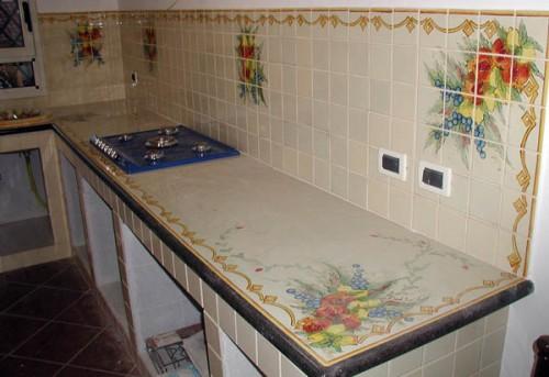 Le nostre cucine in muratura santa maria di licodia - Cucine in muratura colorate ...