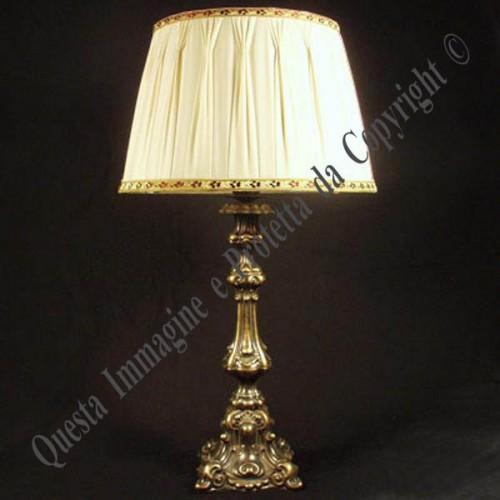 Lampada da tavolo stile antico in ottone : (Verona)