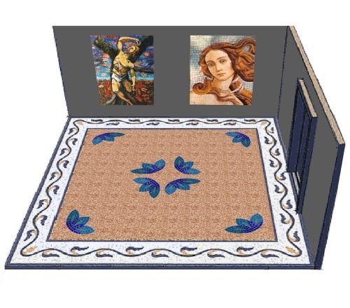 Seminato veneziano battuto veneziano terrazzo veneziano for Mosaici in marmo per pavimenti