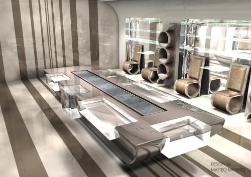 Interior design negozio calzature mirano for Negozi design