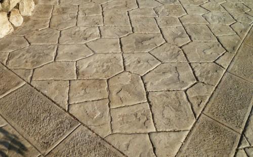 Pavimento Calcestruzzo Stampato : Pavimento in cemento stampato giugliano in campania