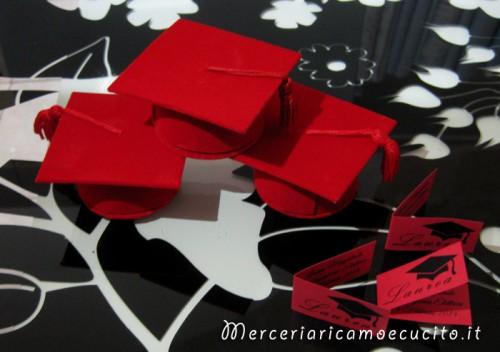 Bomboniera portaconfetti tocco rosso per Laurea   (Grottaglie) d3c80ddc2e65
