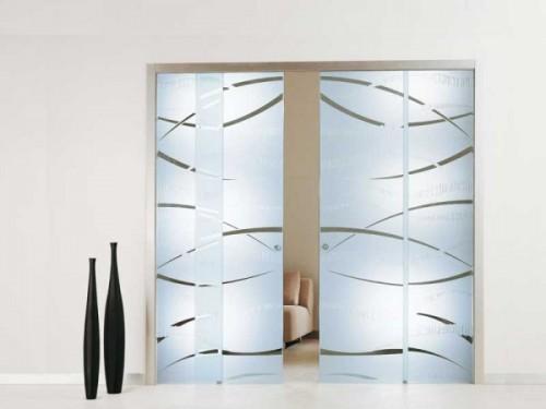 Porte interne in vetro brugine - Porte in vetro per bagno ...