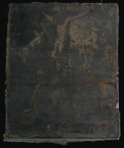 Restauro di un dipinto a olio su tela in precario stato di conservazione : (Ceppaloni)