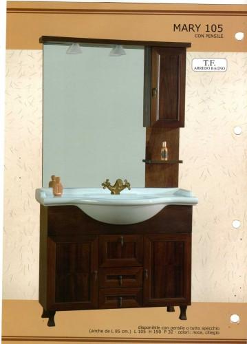 Mobile da bagno mery 105 villaricca for Arredamenti villaricca