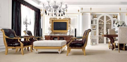Progettazione e realizzazione di arredamenti classici di for Arredamenti di interni di lusso