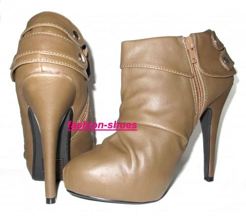 Scarpe tronchetto plateau interno colore khaki trecate for Interno 1 scarpe