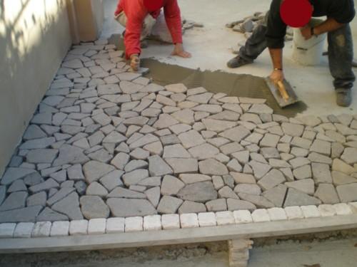 Costo posa in opera porfido posa mosaico mosaico in opera - Messa in opera piastrelle ...