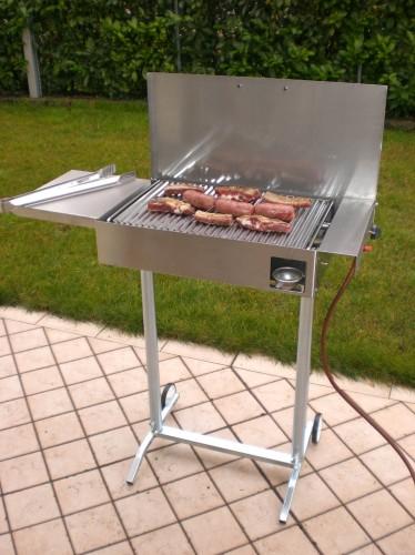 Barbecue a gas con piastra di cottura in acciaio inox 430 completo casier - Piastra in acciaio inox per cucinare ...