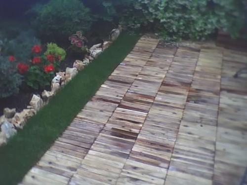 Pavimento per giardino o bordo piscina in legno rodengo saiano