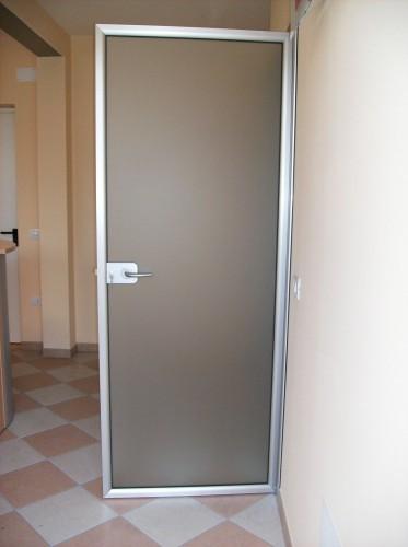 Porte in alluminio e vetro brugine - Porte interne alluminio e vetro ...