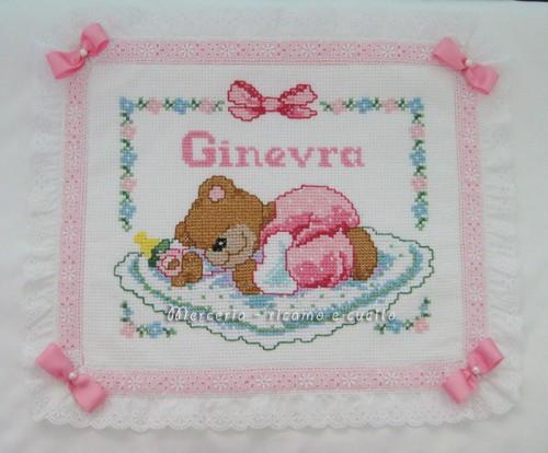 Coperta copripiumino con orsetto dormiglione per ginevra for Immagini punto croce per bambini