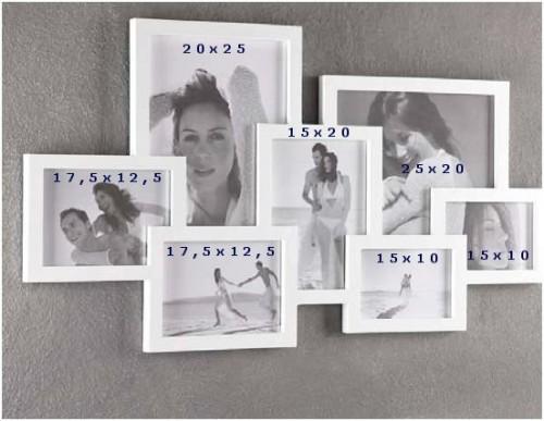 Cornice portafoto multipla tomasucci 7 foto bianca 784 for Cornici foto 15x20