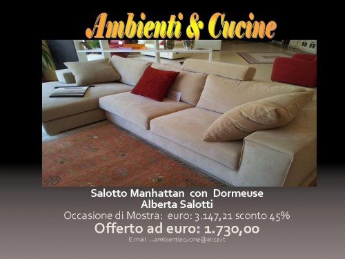 Outlet offerta Manhattan di Alberta Salotti