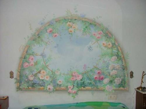 Pitture murali, trompe loeil, affreschi e decorazioni su pareti, mobili ...